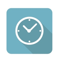 Clock square icon vector