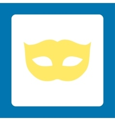 Privacy mask flat yellow and white colors rounded vector