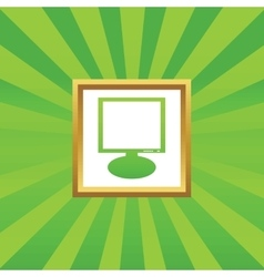 Monitor picture icon vector