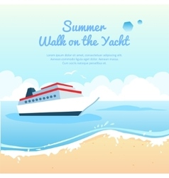 Summer travel on yacht vector