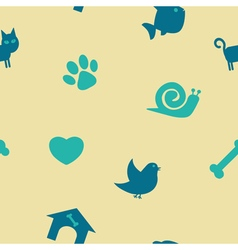 Seamless background with pets vector