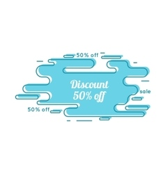 Abstract tag with discount vector