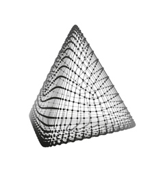 Pyramid regular tetrahedron platonic solid vector