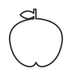 Fesh fruit apple isolated icon design vector