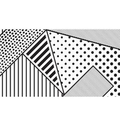 Black and white pop art geometric pattern vector