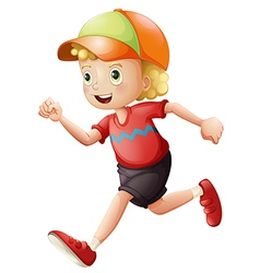 A young kid running vector image vector image