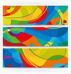Abstract colorful banners on transparent modern vector