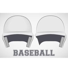 Baseball helmets sketch vector