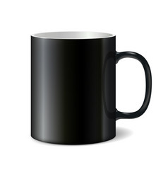 Black big ceramic cup for printing corporate logo vector