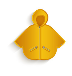 Cartoon yellow raincoat isolated vector