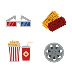 Cinema symbols vector image