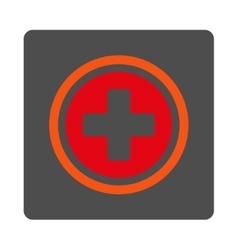 Circled cross rounded square button vector