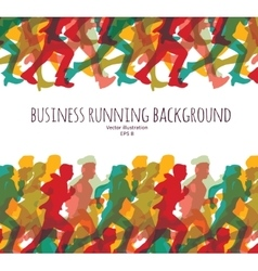 Color crowd people business run carrier background vector image vector image