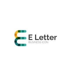 E letter logo minimal line design vector image