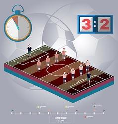 Football stadium playfield side view vector