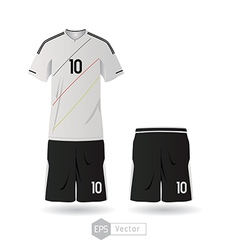 Germany team uniform 01 vector image vector image