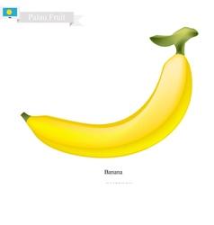 Golden Banana A Popular Fruits in Palau vector image vector image