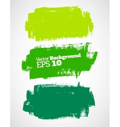 Green brush strokes vector