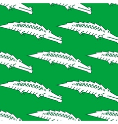 Green crocodile seamless pattern vector image