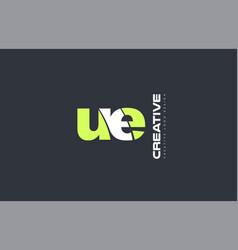 green letter eu u e combination logo icon company vector image