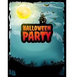 Happy Halloween party Poster EPS 10 vector image vector image