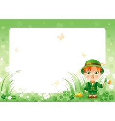 Happy saint patrick day irish dress baby boy vector