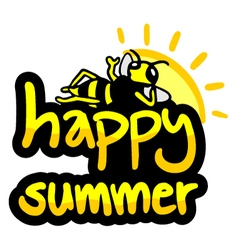Happy summer symbol vector image vector image