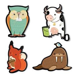 Kids animals vector image vector image