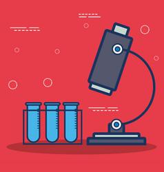 Microscope icon image vector