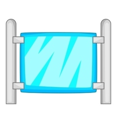 Modern fence icon cartoon style vector