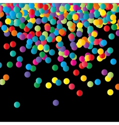 Paper confetti color background vector