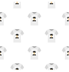 Printing photo on t-shirt pattern seamless vector