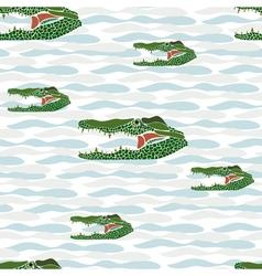 seamless crocodile vector image vector image