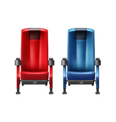 two cinema seats vector image
