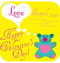Valentine Greeting Card vector image