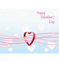 valentines day greeting card background vector image
