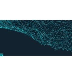 Abstract landscape background cyberspace vector