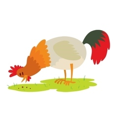 Cute cartoon rooster vector