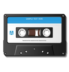 Realistic cassette tape vector image