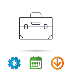 briefcase icon business case sign vector image
