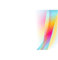 colorful vibrant tech wavy abstract background vector image