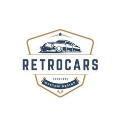 Hot rod car logo template design element vector