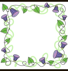 Border swirl flower vector