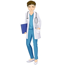 A male doctor vector