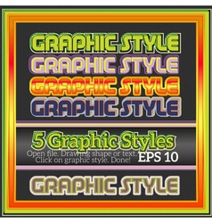 Set of funny decorative graphic styles for design vector