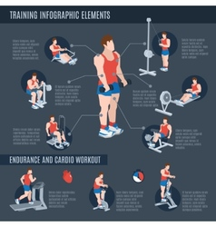 Exercise machines infographics vector