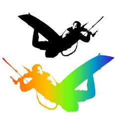 Kiteboarding vector