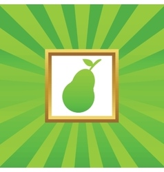 Pear picture icon vector