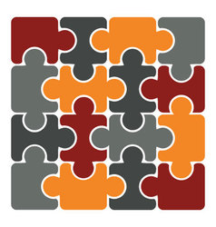 simple 16 element puzzle vector image