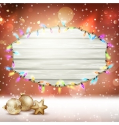 Glowing white christmas lights eps 10 vector